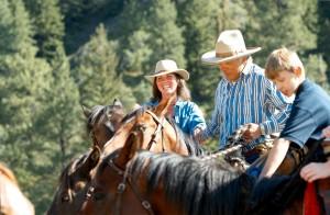 riding horseback on the Glenwood Adventure ranch