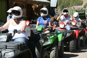Our friends load up on ATVs for a beautiful sunset tour.