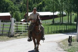 Jason Bair on his horse