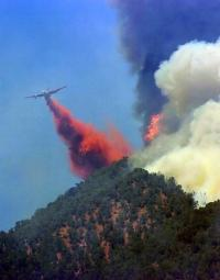 Residents flee as fire west of Glenwood closes in on homes during the 2007 wildfire