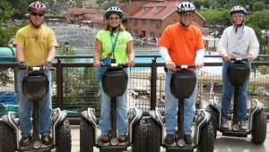 four guests on segways