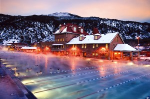 Glenwood Hot Springs Pool in the winter