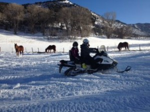 Glenwood Springs Snowmobile tour