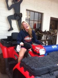 Katy Evans, esteemed member of KU women's rowing team and Glenwood Adventure Company employee