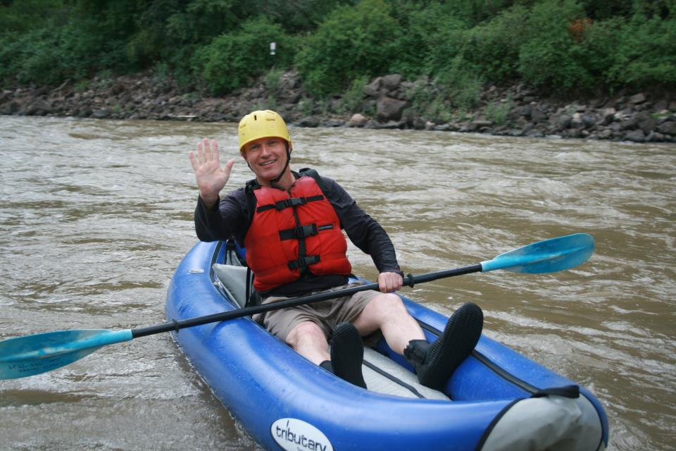 rafting Shoshone rapids in Glenwood Springs